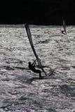 Windsurfers dans le majorca. Photo libre de droits