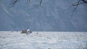 Windsurfers na Garda jeziorze zdjęcie wideo