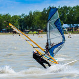 Windsurfers stock images