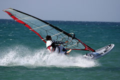 Windsurfers's jump.Freestyle Royalty Free Stock Photography