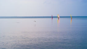 Windsurfers in Varna, Bulgaria Stock Photo