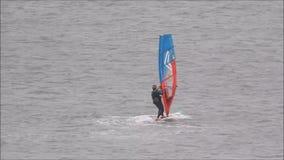 Windsurfers w szkoleniu zdjęcie wideo