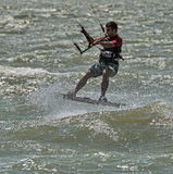 Windsurfing και στο Dolzhanka, περιοχή Krasnodar, Στοκ Φωτογραφίες