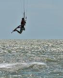 Windsurfing και στο Dolzhanka, περιοχή Krasnodar, Στοκ Εικόνες