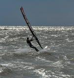 Windsurfing και στο Dolzhanka, περιοχή Krasnodar, Στοκ Φωτογραφία