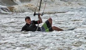 Windsurfing και στο Dolzhanka, περιοχή Krasnodar, Στοκ Εικόνα