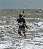 Windsurfing και στο Dolzhanka, περιοχή Krasnodar, Στοκ εικόνα με δικαίωμα ελεύθερης χρήσης