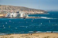Windsurfing κόλπος EL Medano Στοκ φωτογραφία με δικαίωμα ελεύθερης χρήσης