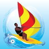 windsurfing Иллюстрация вектора