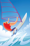 Windsurfing Royalty Free Stock Image