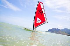 Windsurfing Photographie stock