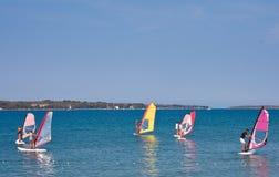 Windsurfing Royalty-vrije Stock Afbeeldingen