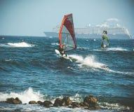 windsurfing Images libres de droits