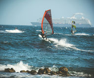 windsurfing Immagini Stock Libere da Diritti