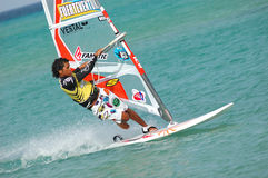 Windsurfing Fotografie Stock Libere da Diritti