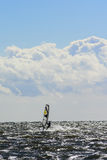 Windsurfing in action Royalty Free Stock Photos