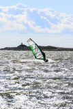 Windsurfing in action Stock Images