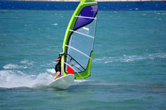 Windsurfing in Alacati Royalty Free Stock Photography