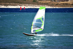 Windsurfing in Alacati, Royalty Free Stock Image