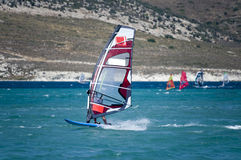 Windsurfing in Alacati, Royalty Free Stock Photography