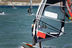 Windsurfing in Alacati Royalty Free Stock Images