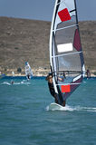 Windsurfing in Alacati Royalty Free Stock Photos