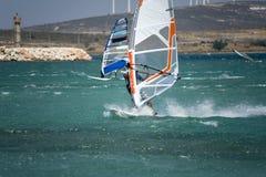 Windsurfing in Alacati Fotografia Stock Libera da Diritti