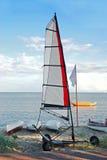 Windsurfing auf Räder. lizenzfreie stockfotografie