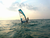 Windsurfing. On the Black sea shore Balaklava Crimea Stock Photo