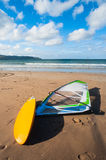 Windsurfing board on the beach Royalty Free Stock Photo