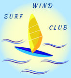 Windsurfing board and waves Stock Image