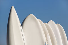 Windsurfing boards against a blue sky Royalty Free Stock Image