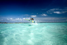 Windsurfing on Bonaire 4. Royalty Free Stock Photography