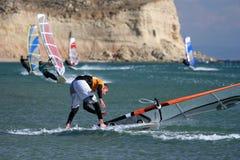 Windsurfing-caiga Fotografía de archivo libre de regalías