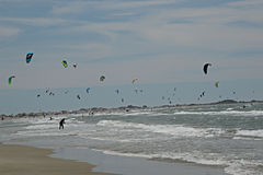 Windsurfing Competition in the Camargue Stock Photos