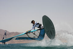 Windsurfing in Dahab Royalty Free Stock Photography