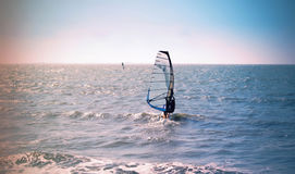 Windsurfing Day. Ride the wave Royalty Free Stock Photo