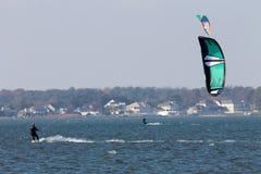 Windsurfing in Delaware royalty-vrije stock fotografie
