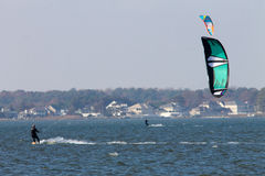 Windsurfing in Delaware Royalty Free Stock Photography