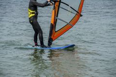 Windsurfing details stock photo
