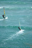 Windsurfing Diamond Head. Two windsurfers on a beautiful Hawaii day Stock Image