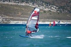 Windsurfing em Alacati, Fotografia de Stock Royalty Free