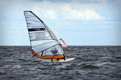 Windsurfing event in Baltic sea Royalty Free Stock Photo