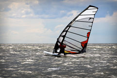 Windsurfing event in Baltic sea. Windsurfers in Baltic sea during competition open water Royalty Free Stock Image