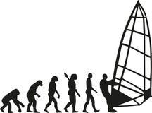 Windsurfing evolution Stock Image