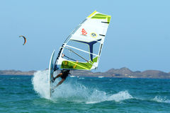 Windsurfing extrême photo stock