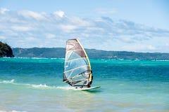 windsurfing Extremer Sport, Active, gesundes Lebensstilkonzept Stockfoto