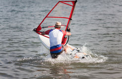 Windsurfing fun royalty free stock images