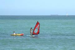 Windsurfing i wodniactwo Zdjęcia Royalty Free