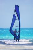 Windsurfing in the Indian Ocean Stock Images